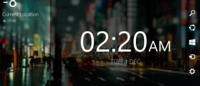 Night Stand Clock for Windows 8